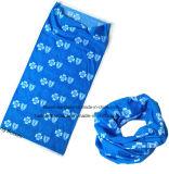 인쇄 파란 폴리에스테 관 머리띠에 충분히 중국 공장 생성 주문 로고