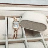 Grande capacidade que empacota a caixa de madeira luxuosa de /Gift da caixa de jóia do relógio com indicador