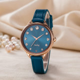 Reloj analogico del reloj ocasional de la manera de la mujer del regalo (Wy-128D)