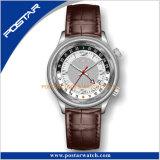 El reloj más nuevo del tiempo del mundo del GMT con el movimiento suizo de Ronda