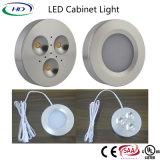 セリウムSAA ULの証明書が付いている円形3W LEDのキャビネットライト