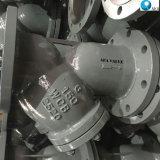 炭素鋼はタイプフィルターこし器のステンレス鋼の金網Yのこし器NPTの下水管プラグが付いているYのフランジを付けたようになった