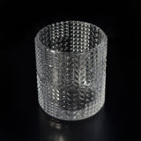 High End Candle Gravel bank with Single Leaf Embossed Pattern