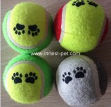 Juguete durable del Chew del perro de la fuente del animal doméstico de China, pelota de tenis del animal doméstico