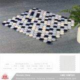 Mosaico de cerámica de material de construcción de piscina mosaico (VMC19M301, 310x315mm+D19X6mm)
