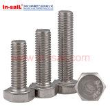 Boulon DIN933 Hex lourd normal en acier avec le bas de Commom