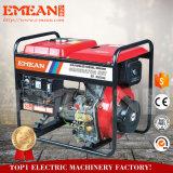 Diesel van de Luchtkoeling 6kw Rode Gele Elektrische Generator
