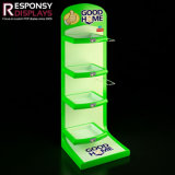 Piso Pop personalizados dispensador de champú para rack de la pantalla de metal