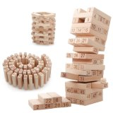 Деревянные геометрической формы Монтессори Детский подарки игрушки Jenga Domino строительные блоки