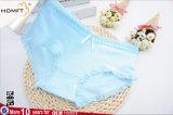 Сладкие резьбы чистый цвет хлопка девочек Preteen нижнее белье модель леди нижнее белье