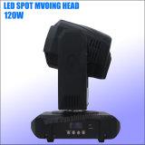 Motif de gobos 120W Lumière LED Spot tête mobile