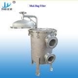 A circulação industrial de purificação de água do alojamento do filtro de manga de aço inoxidável