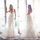 Débardeur dentelle robe de mariée une ligne de parti de la prom robes de mariage Ld11549