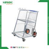 Chariot plate-forme matérielle de l'entrepôt avec panier
