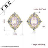 De recentste Oorringen Noblesse van de Oorringen van de Nagel van het Ontwerp Elegante Geplateerde Zilver voor Dames