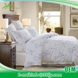 Белая роскошная гостиница хлопка напечатала комплект простыни