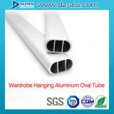 Kundenspezifisches Größen-/Farben-Aluminiumprofil für Garderoben-Oval-Gefäß