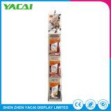 Rack de exposições de piso de Conexão do papel suporte da tela de cosméticos para lojas