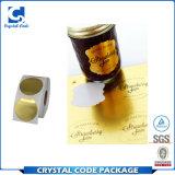 Impresos personalizados Auto Adhseive lámina de oro en relieve de la etiqueta etiqueta