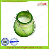 Candela di vetro d'attaccatura usata esterna del vaso con la maniglia