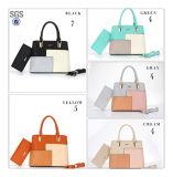 2PCSデザイナーPUの革方法女性のハンドバッグは製造業者をセットする中国