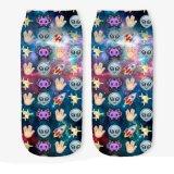 Sokken van de Besnoeiing van de Sokken van de Tienerjaren van de Meisjes van de Sokken van Emoji 3D Afgedrukte Lage