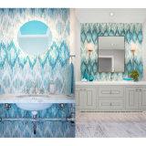 Belle mattonelle di mosaico di vetro pure macchiate all'ingrosso per la parete dell'interno