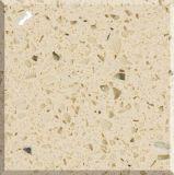 Pierre artificielle de quartz de couleur beige chinoise pour la partie supérieure du comptoir