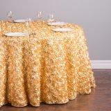 ロゼットは結婚式のホテル党およびレストランの円卓会議の装飾のためのテーブル掛けを刺繍する
