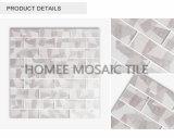 La cocina ligera del color de los grises embaldosa virutas del vidrio de mosaico de la hoja 298X298m m del forro del azulejo 48X148m m en español