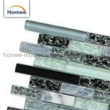 熱い販売の氷のパチパチ鳴る音の台所Backsplashガラスのモザイク