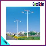 Luz de rua híbrida solar do vento dobro do braço 80W