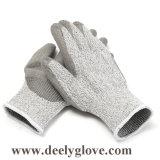 Schwarzer Sicherheits-Handschuh 4543 der PU-Palme Kutlass Schnitt-Stufen-5