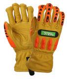 Кожаный Goatskin Anti-Cut TPR Impact-Resistant Механические узлы и агрегаты рабочие перчатки