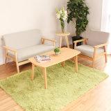 Sofà di legno di Seaters di nuovo di disegno del salone stile 3 del tessuto