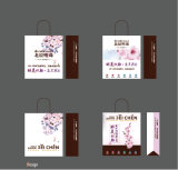 Мешки подарка бумаги искусствоа, бумажное печатание бумажных мешков высокого качества упаковки