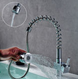Cabezal de ducha Primavera Pullable canal de agua de grifo lavabo Universal