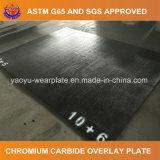 Placa de superposición de carburo de cromo para el procesamiento de minerales la máquina