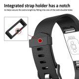 Faixa da cinta de relógio da borracha de silicone de TPU para o perseguidor da carga 2 de Fitbit