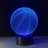 Футбол / Футбол / Bascketball, 3D ночное освещение с использованием сенсорного переключателя или кнопки переключения