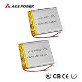 UL IEC62133再充電可能な3.7V 1200mAhのリチウムポリマー李ポリマー電池李イオン
