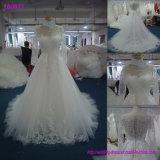 Fabrik-reale Probe A - Zeile weißes Großhandelsbrautkleid-Schutzkappen-Hülsen-Spitze-Hochzeits-Kleid 160609