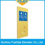 Ascenseur résidentiel à la maison de passager avec la décoration chauve d'acier inoxydable