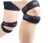 La venda elástico del protector de las rodilleras de la correa del deporte de la cinta del vendaje de la correa de la rótula del soporte de la rodilla para el balompié de la paréntesis de rodilla se divierte aptitud
