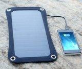 6.6W SunpowerのFoldable適用範囲が広く柔らかい伸縮性がある携帯用太陽携帯電話力パネルの布の充電器