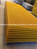 Reja cuadrada del acoplamiento de la fibra de vidrio Grids/FRP