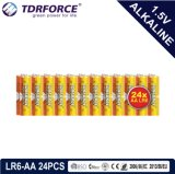 Ce/ISO 24PCS/Boxの1.5volt (LR6/AM-3/AA)一次乾燥したアルカリ電池