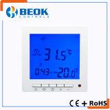 Termóstato eléctrico de la calefacción por el suelo con el contraluz blanco y azul