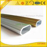 Tube en aluminium ovale de anodisation d'extrusion pour architectural
