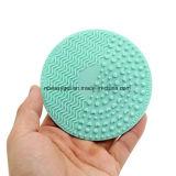 Ferramenta de lavagem Esg10378 da esteira da limpeza da placa do purificador da almofada Shaped redonda do líquido de limpeza de escova da composição do silicone